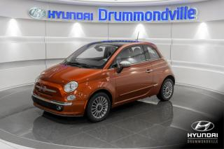 Used 2012 Fiat 500 LOUNGE + GARANTIE + TOIT + A/C + CUIR + for sale in Drummondville, QC