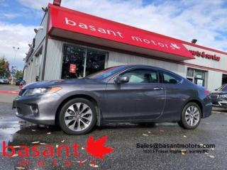 Used 2015 Honda Accord Coupe EX-L w/Nav, Heated Seats, Sunroof, Backup Cam!! for sale in Surrey, BC