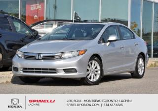 Used 2012 Honda Civic EX AUTO DEAL PENDING TOIT BAS KM AUTO AC MAGS TOIT OUVRANT++ for sale in Lachine, QC