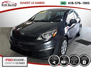 Used 2016 Kia Rio * LX+* BLUETOOTH* PRISE AUXILIAIRE* MANU for sale in Québec, QC