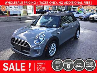 Used 2020 MINI Cooper Convertible Cooper Convertible - Accident Free / Local for sale in Richmond, BC