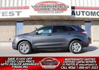 Used 2016 Ford Edge SEL 3.5L V6 AWD, HTD LEATHER, PAN ROOF, NAV, MORE! for sale in Headingley, MB