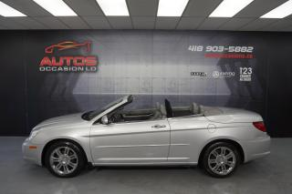 Used 2008 Chrysler Sebring CONVERTIBLE LIMITED AUTO CUIR CAMERA 155 670 KM !! for sale in Lévis, QC