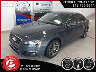 Used 2011 Audi A4 2,0T Premium Plus ( frais vip 395$ non inclus) for sale in Rouyn-Noranda, QC