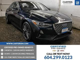Used 2019 Genesis G70 2.0T Advanced ONE OWNER! - Navigation - Sunroof - Blind Spot Sensor for sale in Burnaby, BC