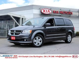 Used 2016 Dodge Grand Caravan Crew | NAV | LEATHER | FULL STOW'N'GO | POWER SEATS | POWER DOORS | POWER LIFTGATE | for sale in Burlington, ON