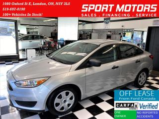 Used 2016 Ford Focus S+Camera+Bluetooth+Cruise+ACCIDENT FREE for sale in London, ON