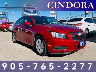 Used 2013 Chevrolet Cruze LT Turbo, Auto, Bluetooth for sale in Caledonia, ON