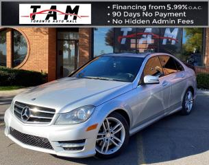 Used 2014 Mercedes-Benz C-Class C300 4MATIC Sport Sedan Sunroof Leather Heated Seats Keyless Entry for sale in North York, ON