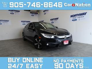 Used 2018 Honda Civic Sedan TOURING | LEATHER | SUNROOF | NAV | ONLY 32 KM! for sale in Brantford, ON