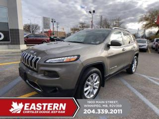 Used 2017 Jeep Cherokee Limited | No Accidents | Remote Start | Backup Cam | for sale in Winnipeg, MB