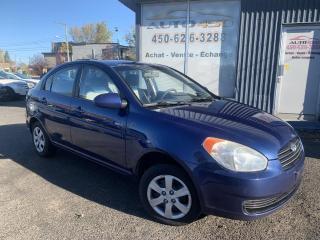 Used 2009 Hyundai Accent ***BERLINE,ECONOMIQUE,BIEN CHAUSSÉ*** for sale in Longueuil, QC
