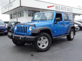 Used 2015 Jeep Wrangler Unlimited Unlimited Sport, Adventure Ready, Freedom Top 4x4 for sale in Vancouver, BC