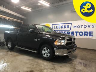 Used 2015 RAM 1500 SXT 4X4 QUAD CAB * HEMI with FuelSaver MDS * Phone connect * Chrome side steps * Chrome front and rear bumpers * Keyless entry with locking rail gate for sale in Cambridge, ON