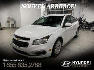 Used 2015 Chevrolet Cruze LT + GARANTIE + CAMERA + A/C + WOW !! for sale in Drummondville, QC
