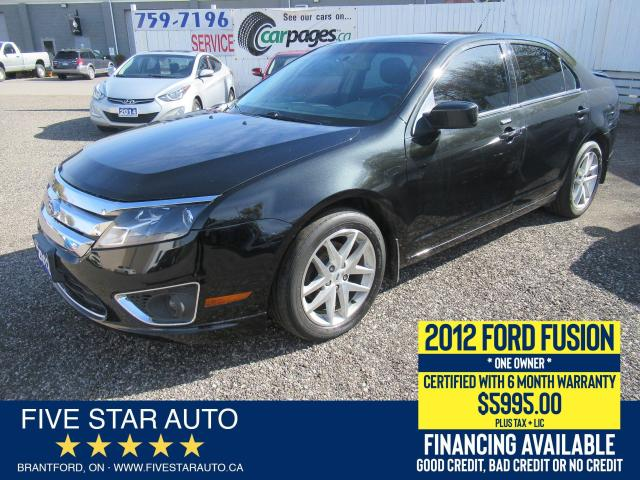 2012 Ford Fusion SEL *ONE OWNER* Certified w/ 6 Month Warranty