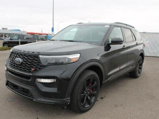 New 2020 Ford Explorer ST 400A | 3.0L V6 EcoBoost | ST Street PKG | Power Heated/Cooled Seats | Heated Steering Wheel | Forward and Reverse Sensing System | 360-Degree Camera | Navigation | Moonroof for sale in Edmonton, AB