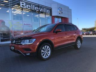 Used 2018 Volkswagen Tiguan 1 OWNER LOCAL TRADE HEATED SEATS ALLOY WHEELS for sale in Belleville, ON