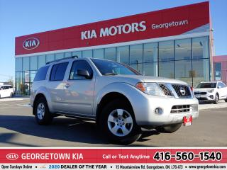 Used 2012 Nissan Pathfinder S | CLEAN CARFAX | 7 PASS | TRAILER BRAKE | 119 KM for sale in Georgetown, ON