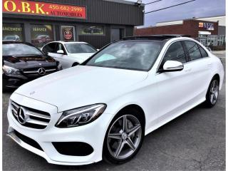 Used 2016 Mercedes-Benz C-Class C 300-4MATIC-AMG PKG-NAVIGATION-TOIT PANO-CAM RECU for sale in Laval, QC