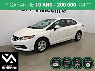 Used 2015 Honda Civic LX ** GARANTIE 10 ANS ** Économie de carburant et fiabilité au rendez-vous! for sale in Shawinigan, QC