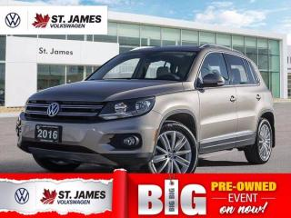 Used 2016 Volkswagen Tiguan Highline, Clean Carfax, Push to Start, Apple Carplay for sale in Winnipeg, MB