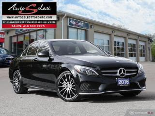 Used 2016 Mercedes-Benz C-Class 4Matic C300 AWD ONLY 74K! **TECHNOLOGY PKG** CLN CARPROOF for sale in Scarborough, ON