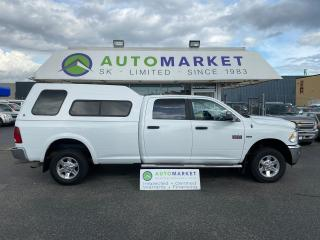 Used 2011 RAM 2500 SLT 2500 CREW CAB 4WD LONG BOX, CANOPY, BED SLIDER! FREE BCAA MBRSP & WRNTY for sale in Langley, BC