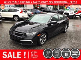 Used 2019 Honda Civic Sedan LX+ - Accident Free / Local for sale in Richmond, BC