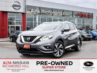 Used 2017 Nissan Murano Platinum   360 CAM   Rear Heated   Bose   Leather for sale in Richmond Hill, ON