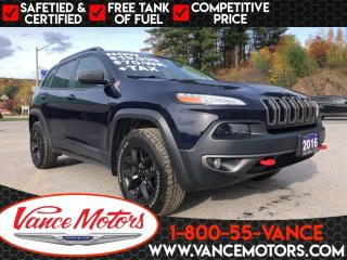 Used 2016 Jeep Cherokee Trailhawk 4x4...LEATHER*HTD SEATS*BACKUP CAM! for sale in Bancroft, ON