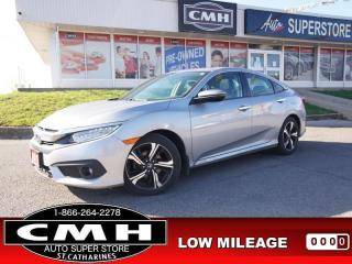 Used 2017 Honda Civic Sedan Touring  NAV CAM ROOF LEATH HTD-SEATS 17-AL for sale in St. Catharines, ON