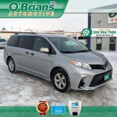 Used 2020 Toyota Sienna CE - Accident Free! w/Mfg Warranty, Adaptive Cruise, 7 Passenger for sale in Saskatoon, SK