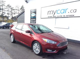Used 2016 Ford Focus Titanium LEATHER, SUNROOF, NAV, HEATED SEATS, BACKUP CAM!! for sale in Richmond, ON
