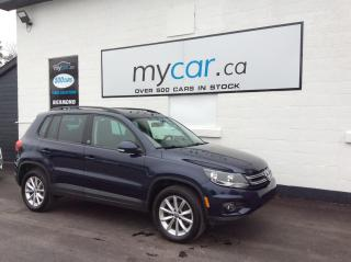 Used 2017 Volkswagen Tiguan Wolfsburg Edition LEATHER, SUNROOF, HEATED SEATS, BACKUP CAM!! for sale in Richmond, ON