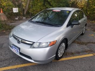 Used 2007 Honda Civic DX-G,NO ACCIDENT, CERTIFIED for sale in Mississauga, ON