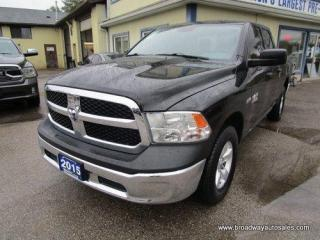 Used 2015 Dodge Ram 1500 GREAT KM'S TRADESMEN MODEL 6 PASSENGER 5.7L - HEMI..  4X4.. QUAD-CAB.. SHORT BOX.. TOW SUPPORT.. AUX/USB INPUT.. KEYLESS ENTRY.. for sale in Bradford, ON