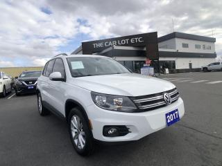 Used 2017 Volkswagen Tiguan Wolfsburg Edition AWD- Big screen, Heated seats, Panoramic, Power seats, push start for sale in Sudbury, ON