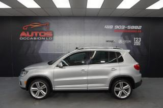 Used 2014 Volkswagen Tiguan 4MOTION R-LINE HIGHLINE CUIR BRUN TOIT PANO FULL for sale in Lévis, QC