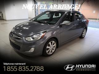 Used 2013 Hyundai Accent GLS + GARANTIE + TOIT + A/C + MAGS + WOW for sale in Drummondville, QC