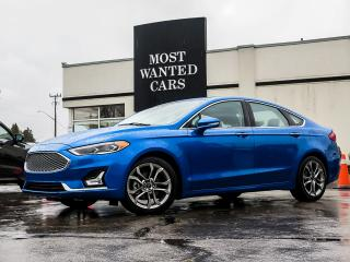 Used 2020 Ford Fusion Hybrid TITANIUM|HYBRID|BLIND|ACC|SUNROOF|SENSORS|LEATHER|COOLED SEATS for sale in Kitchener, ON