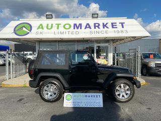 Used 2012 Jeep Wrangler Sport 4WD ** ONLY 68 KM'S! ** MANUAL TRANSMISSION! FREE BCAA MBRSHP & WRNTY! for sale in Langley, BC