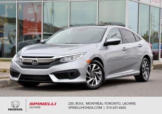 Used 2017 Honda Civic EX w/HONDA SENSING AUTO BAS KM AUTO MAGS TOIT APPLE CARPLAY BLUETOOTH CAM RECUL++ for sale in Lachine, QC