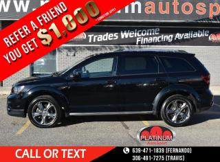 Used 2017 Dodge Journey Crossroad DVD FOR KIDS!! SUNROOF!! LEATHER!! HEATED SEATS!! BACK UP CAMERA!! for sale in Saskatoon, SK