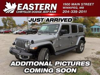 New 2021 Jeep Wrangler Sahara | Removable Hard Top | Remote Start | 4G LTE Wi-Fi HotSpot | for sale in Winnipeg, MB