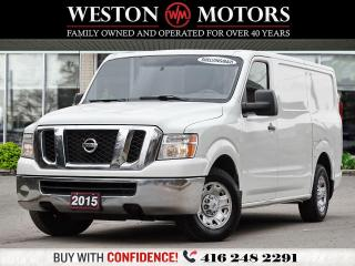 Used 2015 Nissan NV 2500 V6*6CYL*SIRIUS*BTOOTH*REVCAM*NAVI*SHELVING&STORAGE for sale in Toronto, ON