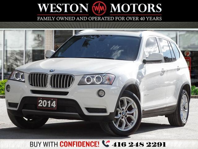 2014 BMW X3 AWD*XDRIVE28I*PANROOF*LEATHER*REV CAM!!*