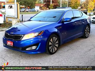 Used 2011 Kia Optima Turbo SX|LOW KM|NO ACCIDENT|SUNROOF|NAVI|CERTIFIED for sale in Oakville, ON
