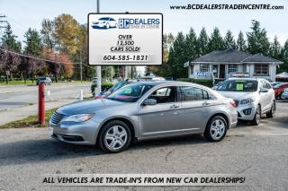 Used 2013 Chrysler 200 LX with only 121,000 km, Fuel Efficient, Inexpensive Finance for sale in Surrey, BC