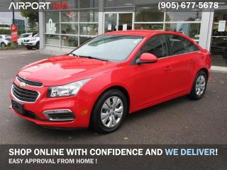 Used 2016 Chevrolet Cruze Limited 1LT / Low KMs! /WE ARE OPEN, BOOK YOUR APPOINTMENT/Back-Up Camera/Remote Starter/Bluetooth for sale in Mississauga, ON